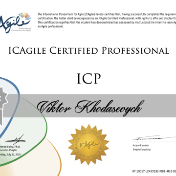Новые достижения- Certified Training (Certified Agile Professional)